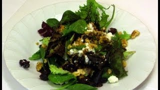 How To Make Cranberry Feta & Walnut Salad Recipe