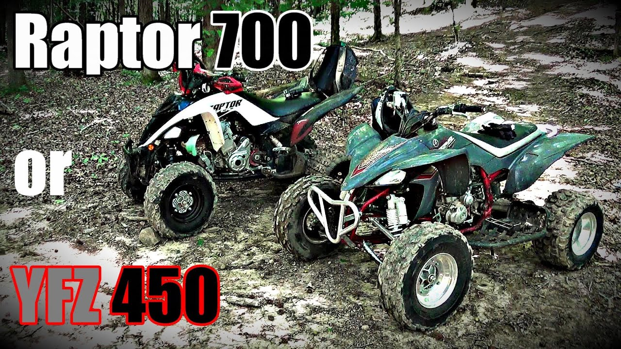 Yamaha YFZ 450 or Raptor 700? Our thoughts from the trails! #savesportquads