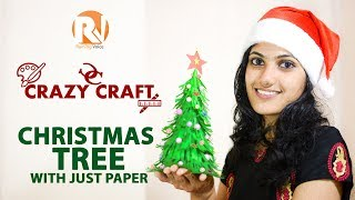 Easy Christmas Tree with Paper - Crazy Craft Raining Voice DIY #2