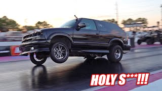 Our LS Swapped Blazer Just Went FASTER Than We Ever Thought Possible!!! (Stock Engine with Nitrous)