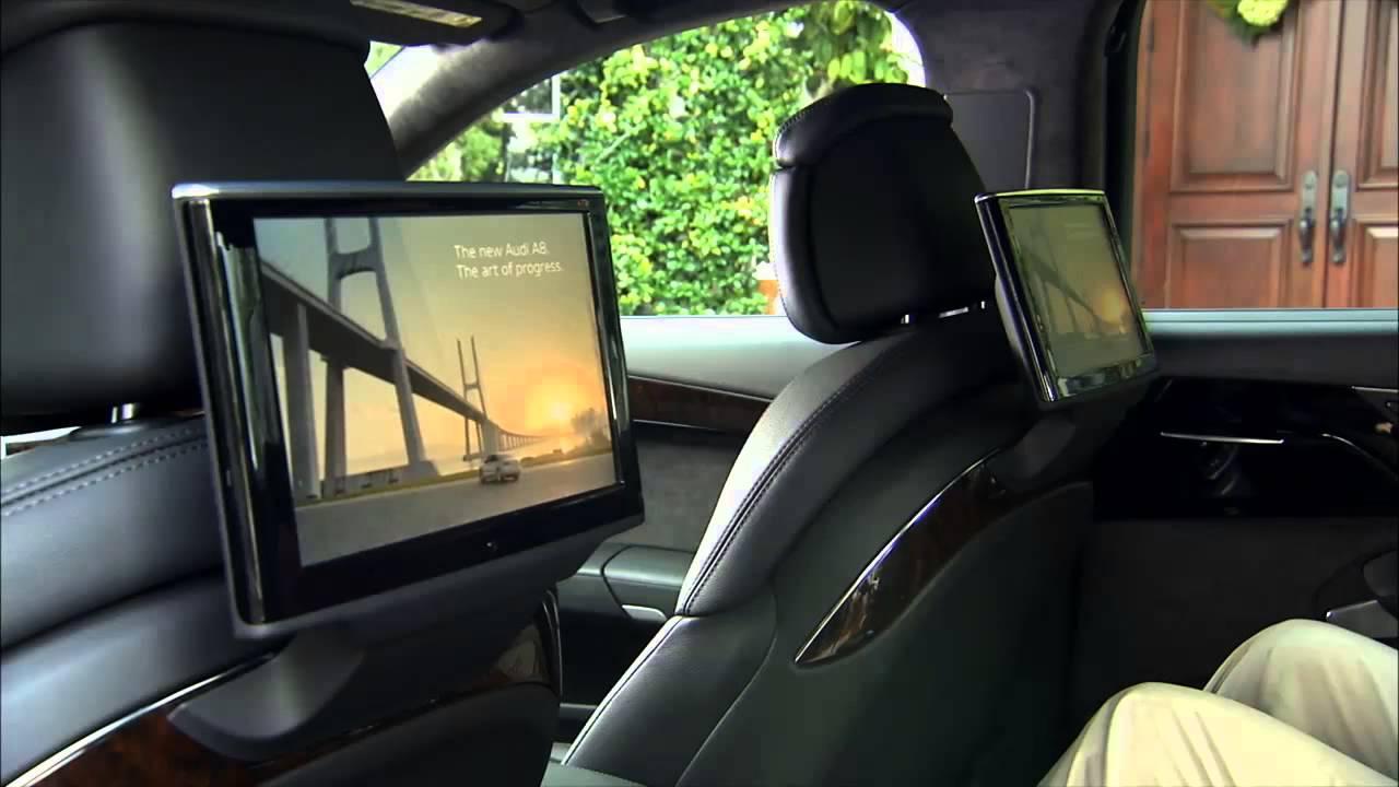 2012 audi a8 rear seat entertainment 720p desktop youtube. Black Bedroom Furniture Sets. Home Design Ideas