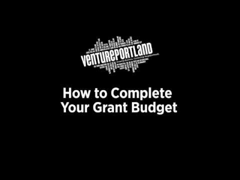 How to Complete Your Grant Budget