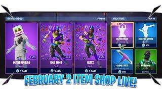 "Fortnite Item Shop Today ""February 2 Item Shop Live"" (Fortnite Live Item Shop Now)"