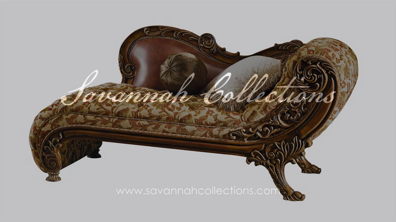 Victorian furniture chaise lounge by savannah collections for Chaise youtubeur