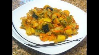 Тушеные кабачки с овощами. Просто, быстро и вкусно.
