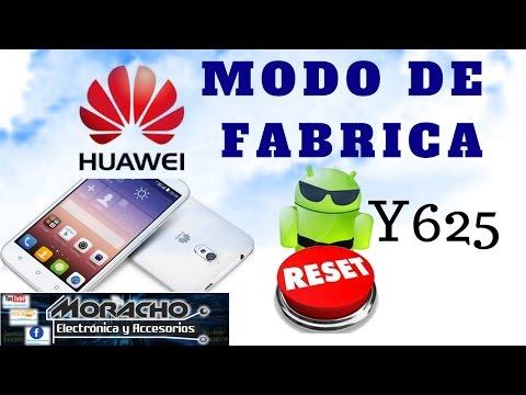 HUAWEI Y625 Modo De Fábrica / Reinicio General
