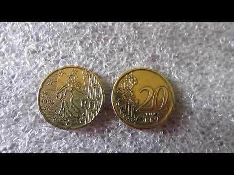 Moeda 20 Cents De Euro França 1999