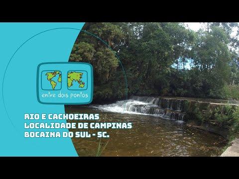 Rio e Cachoeira na Localidade de Campinas em Bocaina do Sul - SC