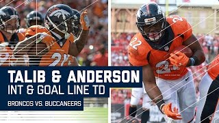 Aqib Talib's 2nd INT Leads to C.J. Anderson's TD Blast! | Broncos vs. Buccaneers | NFL