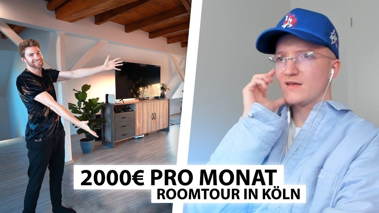 Justin reagiert auf seine neue 2000€ Mietwohnung in Köln.. | Reaktion