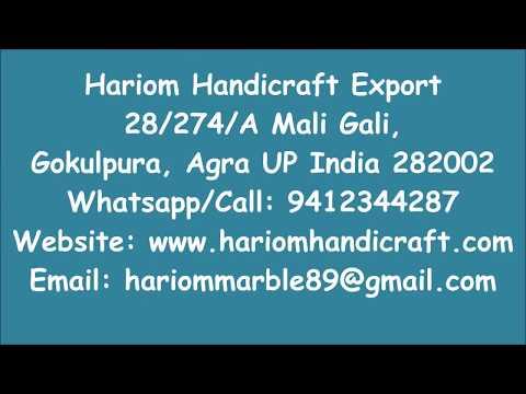 Marble Inlay Mosaic Table Tops handmade Agra India Taj Mahal Hariom Handicraft Export