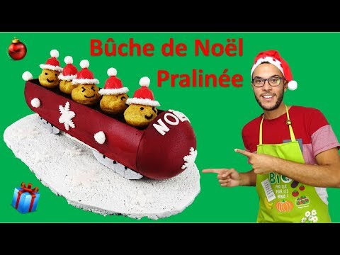 recette-bÛche-de-noËl-pralinee,-bobsleigh-/-praline-christmas-yule-log-(en-subs)
