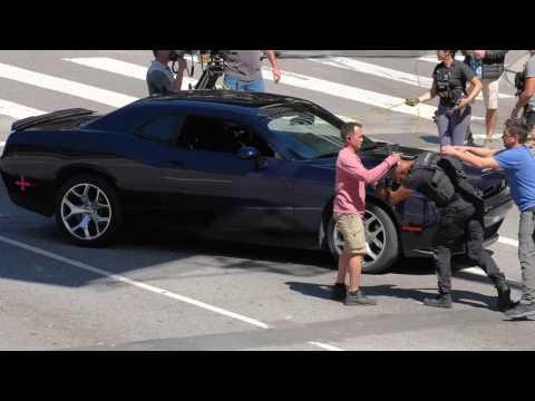 Filming in LA