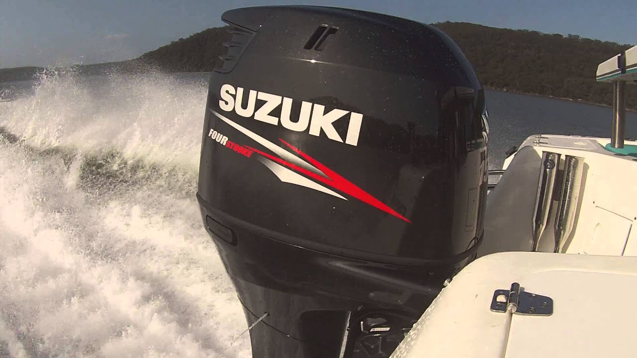 Suzuki 150hp Fourstroke - WOT Smooth Water - YouTube