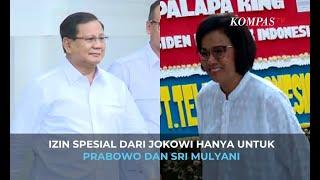 Izin Spesial dari Jokowi Hanya untuk Calon Menteri Prabowo Subianto dan Sri Mulyani