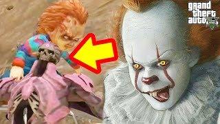 GTA 5 Mod - Pennywise Và Chucky Hợp Lực Quyết Đấu Quái Vật Kinh Tởm...
