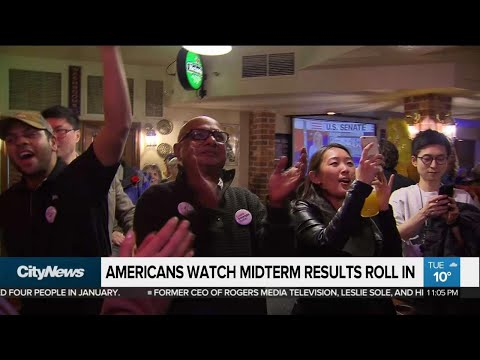 Americans in Toronto watch midterm results roll in