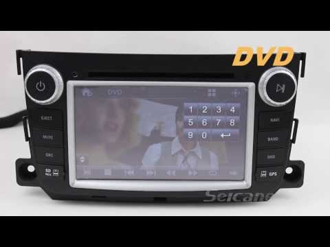 Mercedes Benz Smart Fortwo radio upgrade dvd player gps navigation system bluetooth TV Rearview