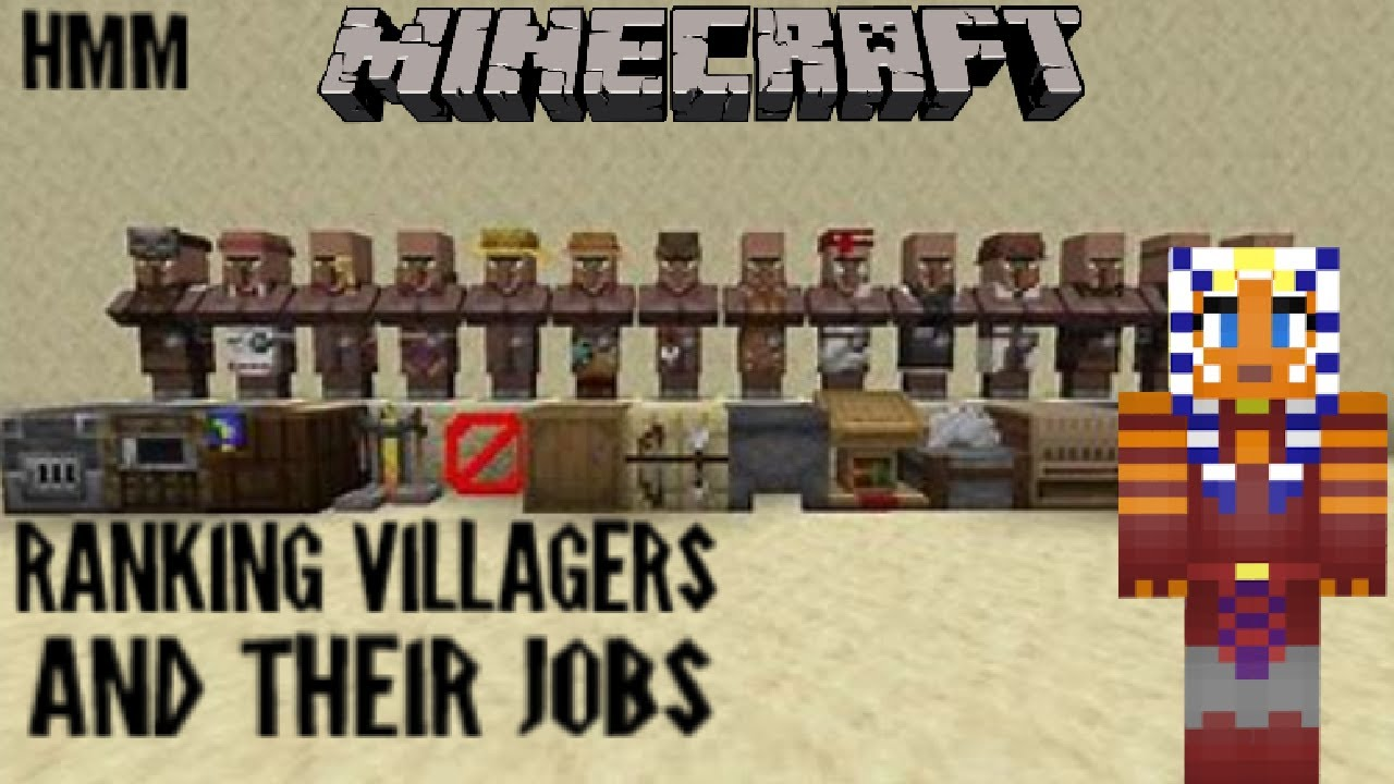 Ranking ALL The Villagers And Their Jobs From Worst To Best!  Minecraft