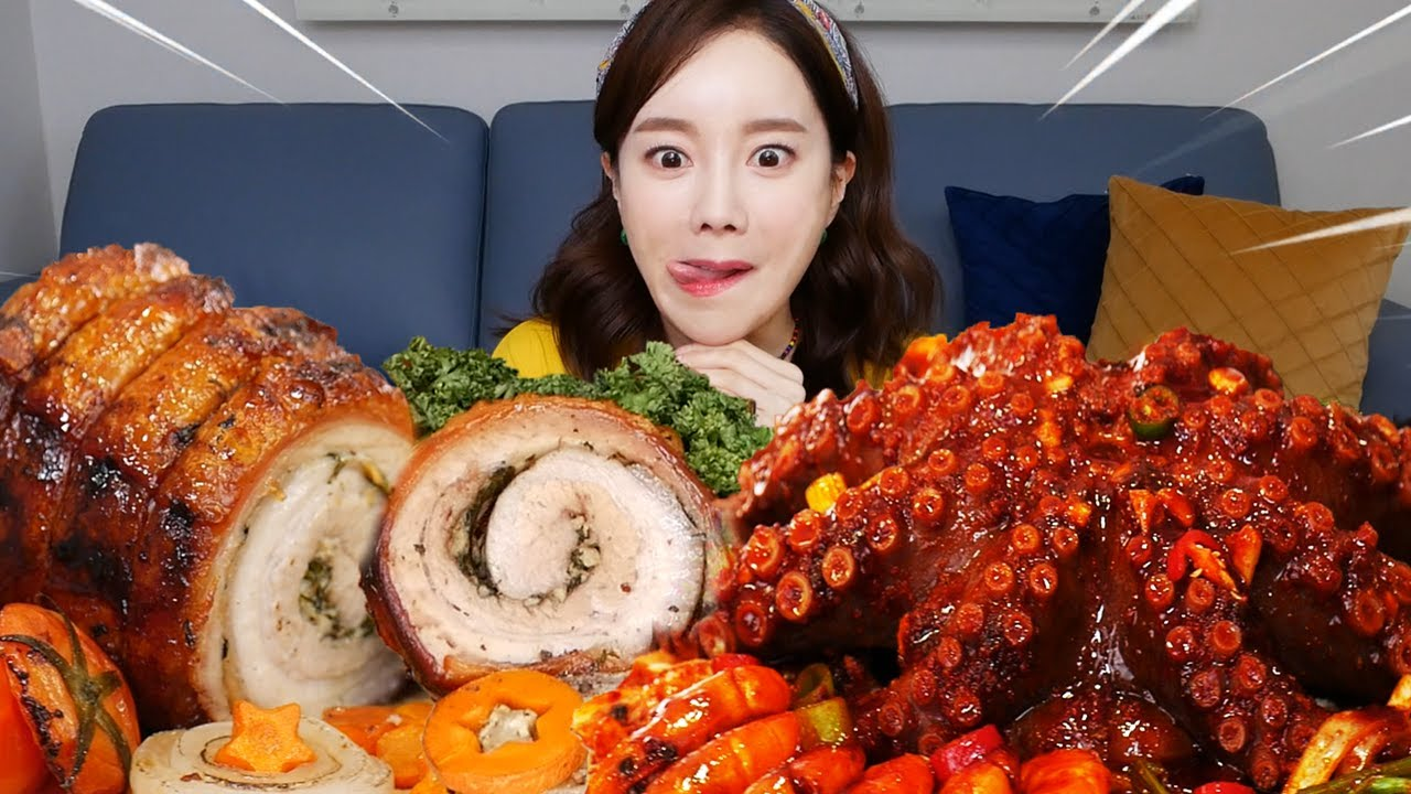 [Mukbang ASMR] 싱싱한 문어 해물찜 🐙 포르케타 Octopus SeafoodBoil Porchetta Eatingshow Ssoyoung