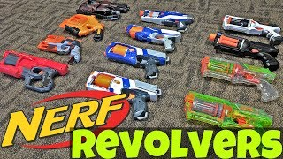 Nerf Revolver Collection! (Maverick, Strongarm, etc.)