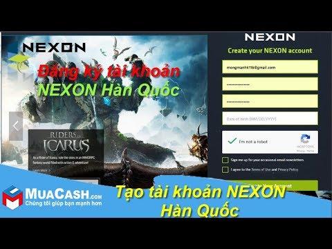[Hướng dẫn] – Đăng ký tài khoản Nexon Hàn Quốc | MuaCash