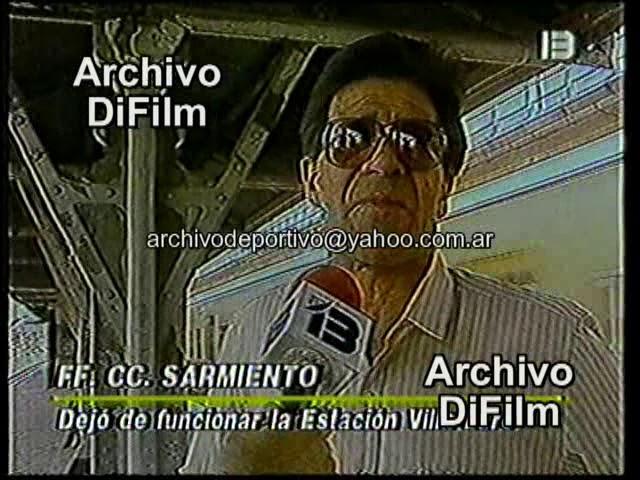 Deja de funcionar la Estación Villa Luro de la Linea Sarmiento - DiFilm (1991)