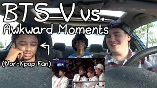 Video BTS V vs. Awkward Moments (Part 1) Reaction (Non-Kpop Fan) download MP3, 3GP, MP4, WEBM, AVI, FLV Juli 2018