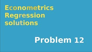 #12  F-test for significance of regression using sum of squares formulation of test