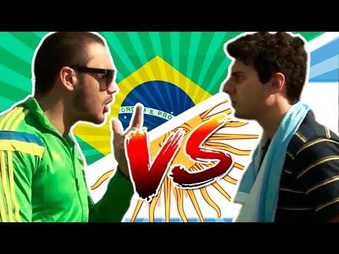 BRASIL VS ARGENTINA- BATALHA DE RAP - DESIMPEDIDOS