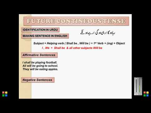Future Continuous Tense for beginners with examples in Hindi   Urdu Japb video N