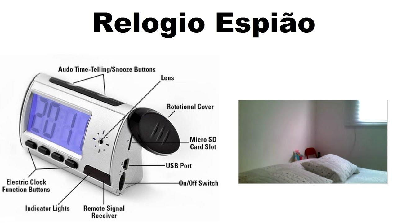 3a436223195 Como Usar um Relogio de Mesa Espiao Tutorial e exemplo de video ...