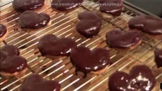 mini palmeras de hojaldre con glaseado de chocolate dulces fciles