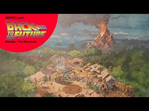 Back to the Future LIVE! - Unbuilt Fire Mountain Attraction Ride at the Magic Kingdom