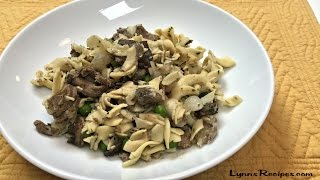 Savory Beef with Stroganoff Sauce