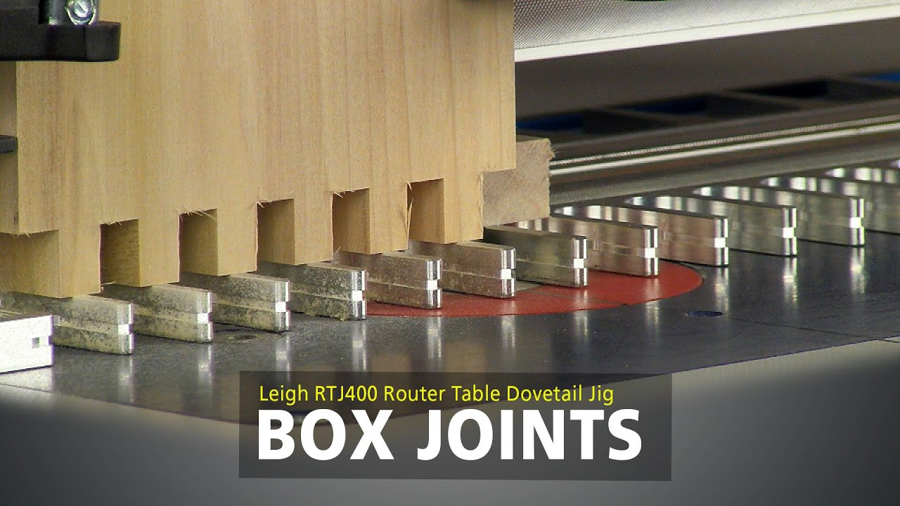 Leigh Rtj400 Router Table Dovetail Jig Box Joints