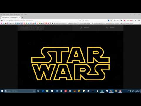 Tutorial: How to make a quick and easy Star Wars Intro Crawl