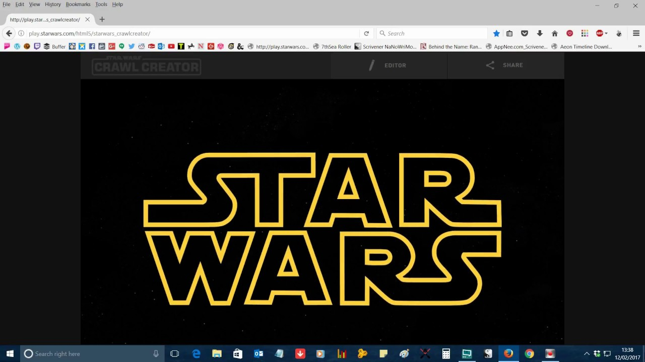 Tutorial How To Make A Quick And Easy Star Wars Intro Crawl Youtube
