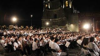 Con un espectacular concierto festeja Oaxaca sus 482 años de ser ciudad