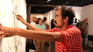 Live Mural event at Beyond the Lines Gallery - Bergamot Station, Santa Monica by Jose Arteaga