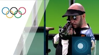 Italy's Campriani wins gold in Men's 10m Air Rifle