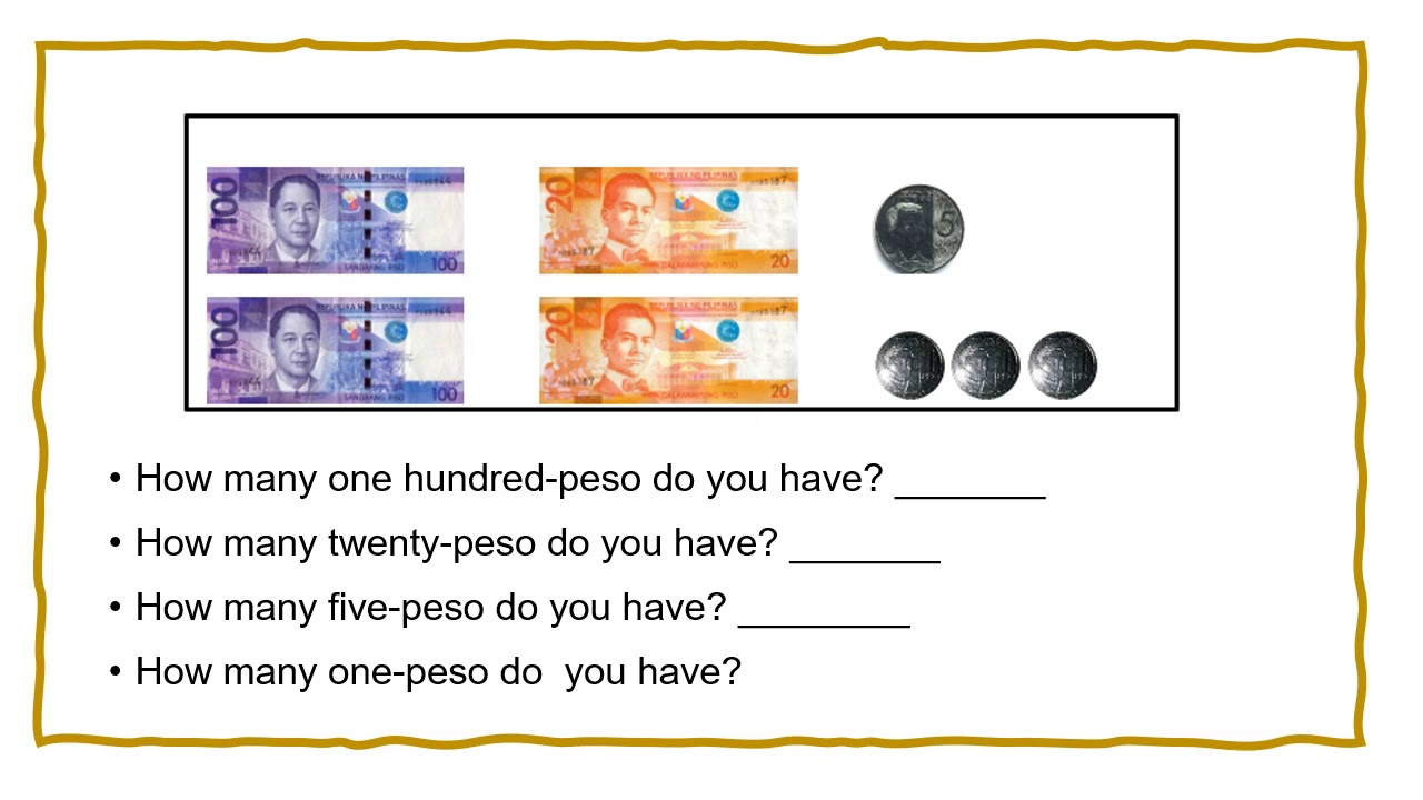 hight resolution of Reading and Writing Philippine Money in Symbols and in Words - YouTube