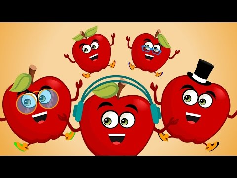 Five Little Apples  Nursery Rhymes  Songs For Kids  Rhymes For Children