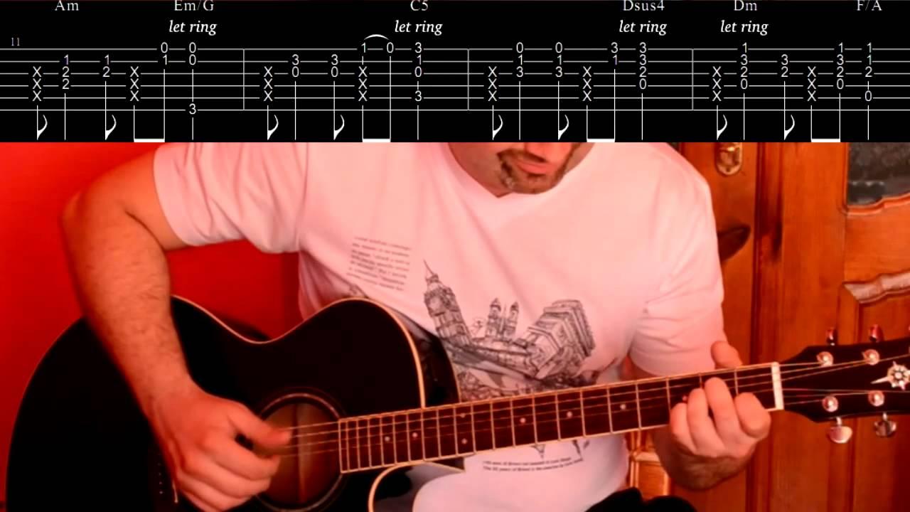 схема песни на гетаре