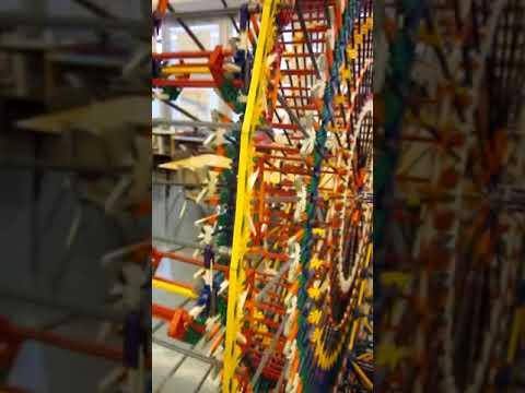 MS7 and Global Technology Preparatory - 6 foot Knex ferris wheel up close
