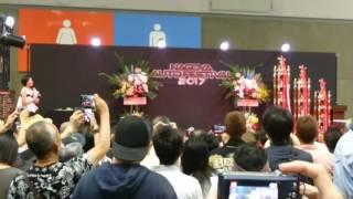 2017年、ポートメッセなごやで開催されたオートフェスティバル内での竹...