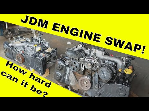 USDM Engine Tear Down – SUBARU WRX WAGON WIDE BODY BUILD – JDM EJ205 Engine Swap