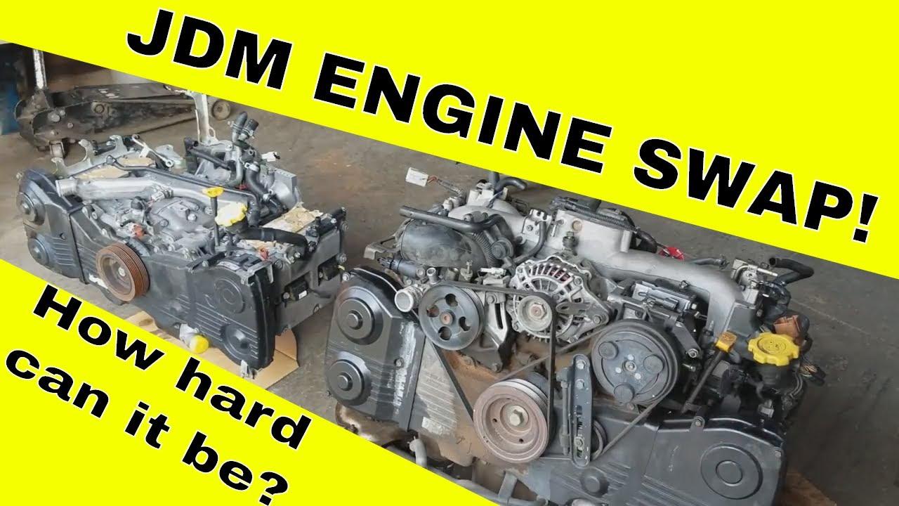 USDM Engine Tear Down - SUBARU WRX WAGON WIDE BODY BUILD - JDM EJ205 Engine  Swap