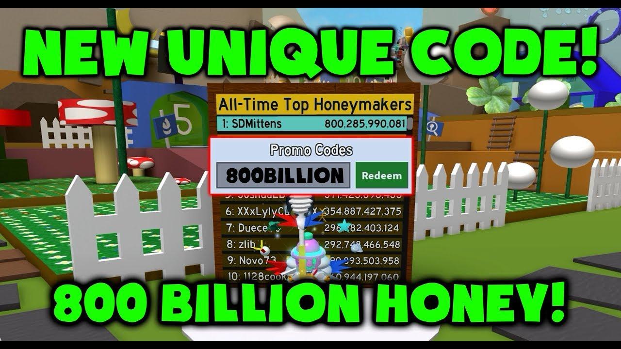 New Op Code 800 Billion Honey Roblox Bee Swarm Simulator Youtube