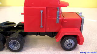 Ultimate Build Disney Cars Toys Mack Truck Hauler Klip Kitz Lightning McQueen